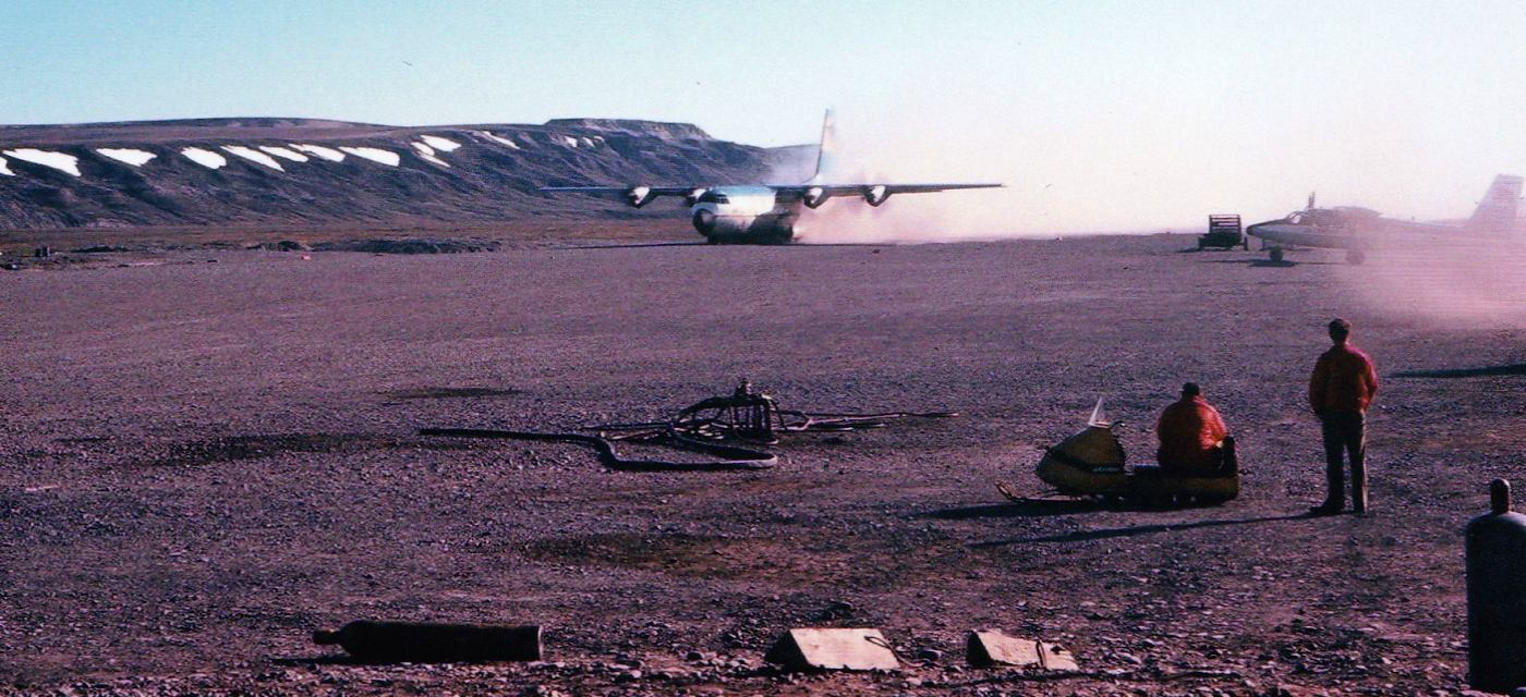 Abandoned Little Known Airfields Alaska B 26 Marauder Engine Diagram A Summer 1972 Photo By Francis Blake Of Lockheed L 100 Hercules Civilian C 130 Taking Off From Sagwon Airport