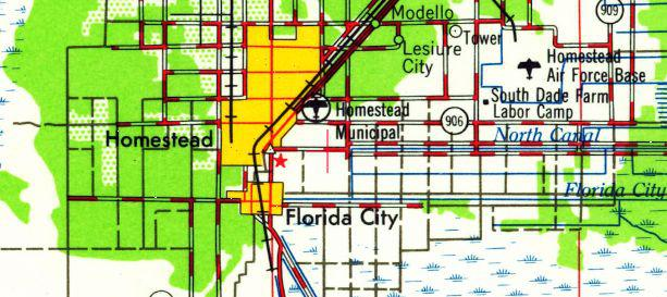 Homestead Florida Map.Abandoned Little Known Airfields Florida Southern Miami Area