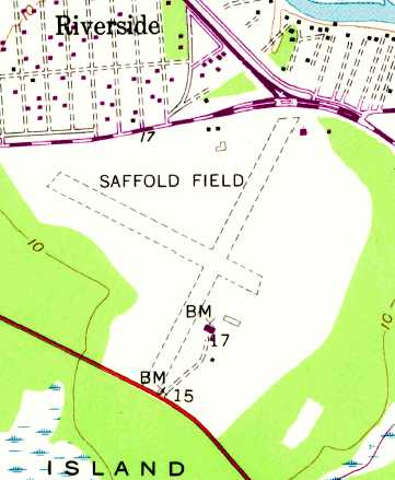 The 1955 Usgs Topo Map Depicted Saffold Field As Having Two 3 500 Unpaved Runways With Several Small Buildings On The South Side