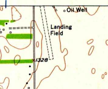 The 1956 Usgs Topo Map Depicted A Single Unpaved Northwest Southeast Runway Labeled Simply As Landing Field