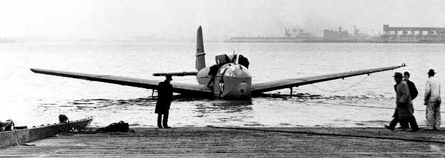 A 1943 Naval Aviation Archives Photo Of A Rare Allied Aviation Prototype  XLRA 1 Amphibious Glider