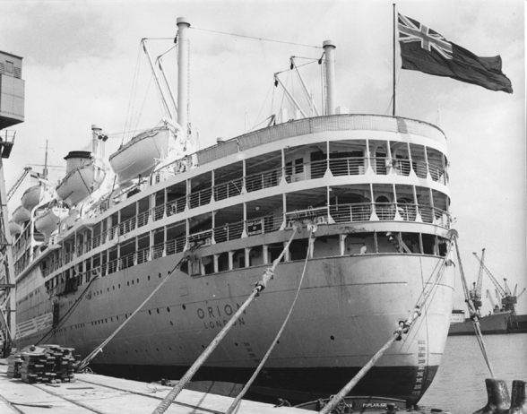Stern View of SS Orion at Tilbury Docks May 1963