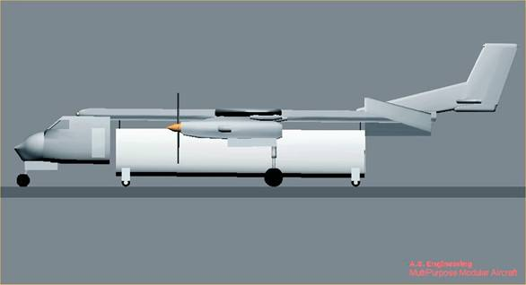 MULTIPURPOSE AIRCRAFT WITH MODULAR FUSELAGE PROJECT